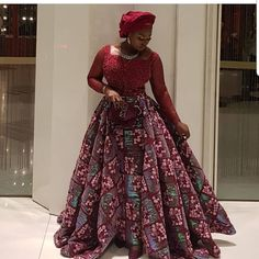 Latest Ankara Styles for Wedding 2018 - DeZango Long African Dresses, Latest African Fashion Dresses, African Print Dresses, African Print Fashion, African Dress Designs, Ankara Fashion, African Attire, African Wear, African Style
