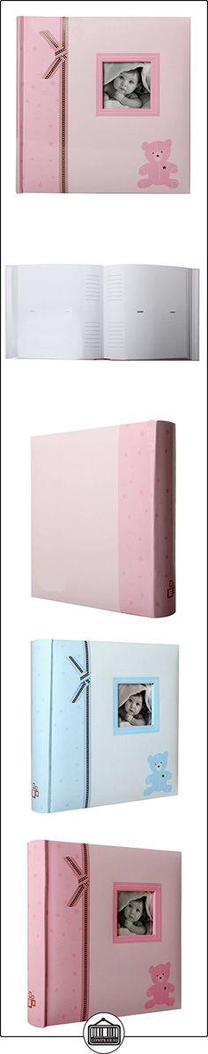 LCD - Álbum con bolsillos para fotos de bebé (200 fotos de 10 x 15 cm), diseño de oso, color rosa  ✿ Regalos para recién nacidos - Bebes ✿
