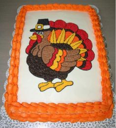 Another turkey cake, I can't decide which one I want to do for our cake decorating class...