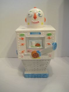 Vintage 1984 Planetary Pals Robot David Hyman For Sigma Ceramic Cookie Jar