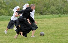 Nuns + Monk + Soccer = Awesome!