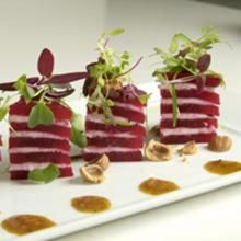 Goat Cheese & Spring Beets Napoleons by Diane