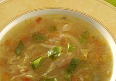 Sopa chinesa de vegetais