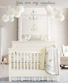 white nursery love the mirror idea