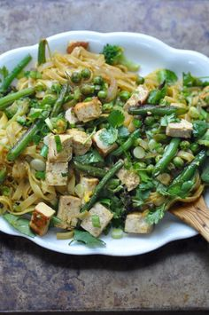 Singapore Rice Noodles Singapore Rice Noodles, Curry Noodles, Test Kitchen, Tofu, Asparagus, Green Beans, Vegan, Chicken, Vegetables