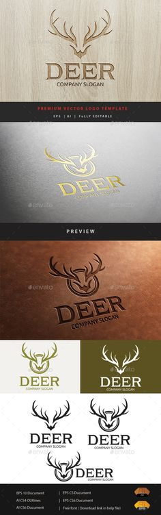 Deer Logo Template Vector EPS, AI #logotype Download: http://graphicriver.net/item/deer-logo/11297355?ref=ksioks
