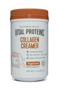 Vital Proteins Coconut Collagen Creamer features healthy ingredients served alongside 10 grams of collagen peptides. It's dairy free, Approved, sugar. Smoothie, Vital Proteins Collagen, Collagen Protein, Beef Gelatin, Leaky Gut Syndrome, Collagen Powder, Keto, Diet Plan Menu, Food Journal