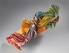 Laurie Danch : Bracelets & Cuffs - shibori
