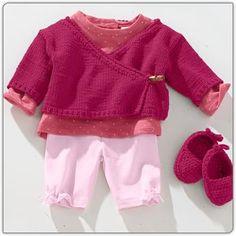 Modell 249/2, Wickeljacke und gehäkelte Babyschühchen aus Bamboo-Cotton von Junghans-Wolle « Babymodelle « Strickmodelle Junghans-Wolle « Stricken & Häkeln - Stricken: Süße Babypullover, Babyjacken und vieles mehr im Junghans-Wolle Creativ-Shop kaufen