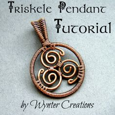 Learn to create a classic Celtic triskele pendant using basic wire work techniques with this tutorial from Wynter Creations.  With over 65 illustrative photos, this tutorial follows the design in detail from start to finish.