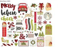 18 Printable Cute and Beautiful Christmas Sticker - mybabydoo Planner Stickers, Scrapbook Stickers, Printable Stickers, Scrapbook Paper, Free Printables, Scrapbook Borders, Scrapbooking, Fresh Christmas Trees, Beautiful Christmas