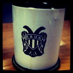 PAOK Mug Shot Glass, Mugs, Coffee, Tableware, Kaffee, Dinnerware, Tumblers, Tablewares, Cup Of Coffee