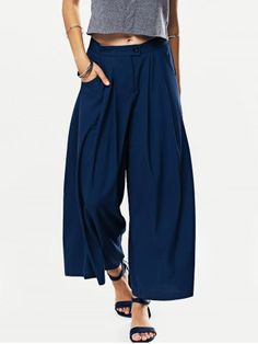 SHARE & Get it FREE | Solid Color Loose Fitting Wide Leg PantsFor Fashion…