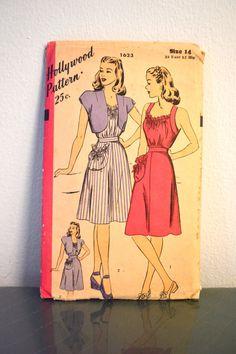 1940s Vintage Hollywood Pattern 1623 Misses by TabbysVintageShop, $18.00