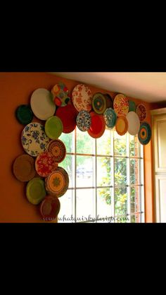 Vintage plate valance. Love!