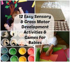 12 Easy DIY Sensory & Gross Motor Development Activities & Games For Babies | Disney Baby