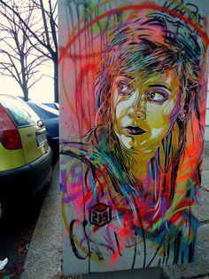 Wall in Berlin, Germany by C215.