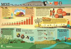 The story of meat and it's consumption around the world is a complicated one. This infographic covers it's effects on nutrition, health, biodiversity,