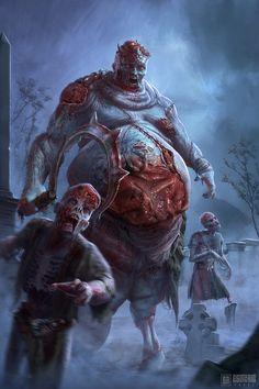 Undead King Zombie Lord by Ivan Sevic Arte Horror, Horror Art, Dark Fantasy Art, Dark Art, Arte Zombie, Zombie Art, Fantasy Monster, Monster Art, Zombies