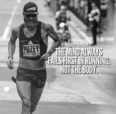 The mind always fails first in running, not the body. running ideas gym, running ideas motivation, running ideas tipsThe mind always fails first in running, not the body. I Love To Run, Run Like A Girl, Just Run, Marathon Quotes, Marathon Motivation, Triathlon Motivation, Motivation Positive, Running Motivation, Keep Running
