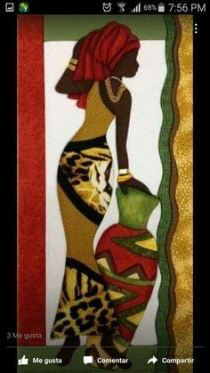 Black Art, Black Women Art, African Drawings, African Art Paintings, Arte Tribal, Tribal Art, Afrique Art, African Quilts, African Theme
