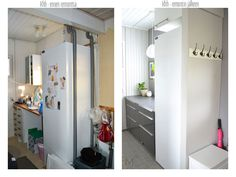 Laundry room's makeover reveal, client project before and after the makeover. Interior design by Marika Ritala-Mäkinen.