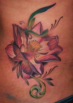 Birth Flower for August represents Emily, Brianna, & Mom Tribal Flower Tattoos, Birth Flower Tattoos, Flower Tattoo Designs, Tattoos For Guys, Tattoos For Women, Cool Tattoos, Gladiolus Flower Tattoos, October Birth Flowers, Lotus Tattoo