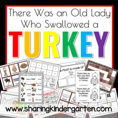 Covering Content Using There Was an Old Lady Who Swallowed a Turkey - Sharing Kindergarten