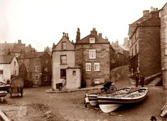 Dedicated to exploring the art and collectables of the unique east coast of England inshore fishing boat called the coble or cobble Old Photos, Vintage Photos, Christophe Jacrot, Whitby England, Victorian Photos, Victorian Era, Robin Hoods Bay, Seaside Towns, The V&a