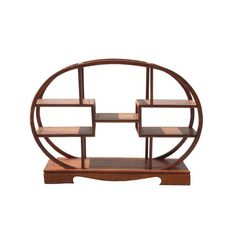 This is a small, oval-shaped, high-quality rosewood display shelf. It is a traditional Asian piece that is perfect for displaying small items. Dimensions: x x Origin: China Material: Wood Condition: Handmade, not perfect, variation in wood pattern Asian Furniture, Chinese Furniture, Home Furniture, Wall Mounted Shelves, Display Shelves, Shelving, Shelf, Oval Table, Wood Patterns