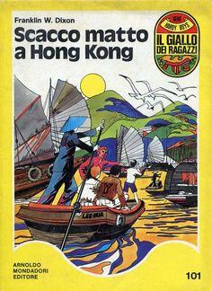 """Il Giallo dei Ragazzi n. 101: """"Scacco matto a Hong Kong"""" [Hardy Boys 53] (The Clue of the Hissing Serpent, 1974) di Franklin W. Dixon (Andrew E Svenson) [marzo 1976] Traduzione di Ludovica Nagel #Mondadori #Scacchi #HardyBoys"""