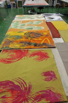 Paint and screenprint art textiles - Carole Waller https://www.westdean.org.uk/study/short-courses