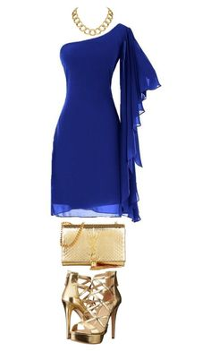"""""""Blue"""" by huldinhared on Polyvore featuring moda, GUESS, Yves Saint Laurent e House of Harlow 1960"""