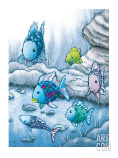 The Rainbow Fish I Art Print by Marcus Pfister at Art.com