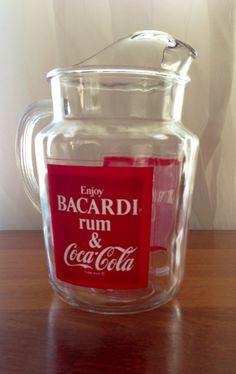 Vintage Bacardi and Coke Pitcher Coca Coca Cola Vintage, Coca Cola Ad, Always Coca Cola, Cocktail Drinks, Cocktails, Best Soda, Coca Cola Decor, Coca Cola Kitchen, Cocoa Cola