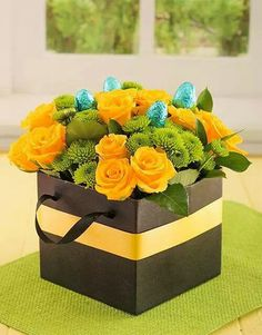 Yellow roses in cellophane rose rage pinterest yellow roses netflorist is south africas largest sameday flower gift delivery service buy easter box of yellow roses with chocolate eggs online today negle Images