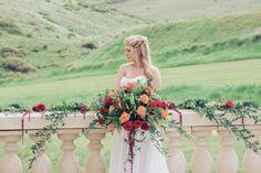 Rich Red and Gold Botanical Wedding Inspiration at Rancho Villa Garden, Colorado - Mountainside Bride Wedding Inspiration, Wedding Ideas, Beautiful Bouquets, Botanical Wedding, Exotic Flowers, Flower Bouquet Wedding, Floral Arrangements, Colorado, Centerpieces