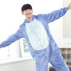 21 Styles All in One Flannel Anime Cartoon Hoodie Onesies Sleepwear Adult Unisex Homewear Cute Animal Pajamas Dream Shu fun A05
