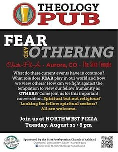 Here's a post on how to get a Theology Pub setup in your community.