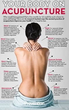 10 Pretty Fantastic Reasons To Try Acupuncture http://www.prevention.com/health/healthy-living/health-benefits-acupuncture?utm_content=buffer2f7e9