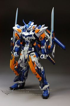 MG Gundam Astray Blue Frame Third - (Resin Conversion) Custom Build Gundam Toys, Gundam Art, Armadura Ninja, Mecha Suit, Gundam Astray, Gundam Mobile Suit, Gundam Custom Build, Carapace, Cool Robots