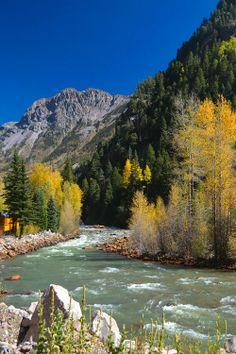 River of Lost Souls. Durango Silverton Railroad, Colorado USA.