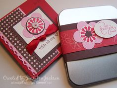 Valentine Album using the stamp set With all my Heart from Stampin' Up. More details at stamp it with Jen.