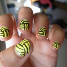 volleyball nails would be great in teal and black!