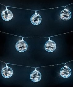 Mirror Ball String Lights: Mini disco balls that light up!