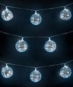 Mirror Ball String Lights: Mini disco balls that light up! More