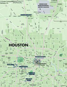 Houston Hotels © Eureka Cartography, Berkeley, CA