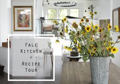 Fall Kitchen and Recipe Tour 2016 Kitchen Recipes, Kitchen Ideas, Crazy Home, Gin Fizz, Beverages, Drinks, First Home, Margarita, House Tours