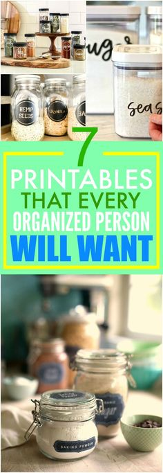 These 7 Free Printables is something EVERYONE needs! Seriously, these have made my kitchen look AMAZING! I'm so glad I found them! This is THE BEST! I'm so pinning for later reference!