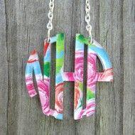 Acrylic Necklace - Floating Monogram - Patterns